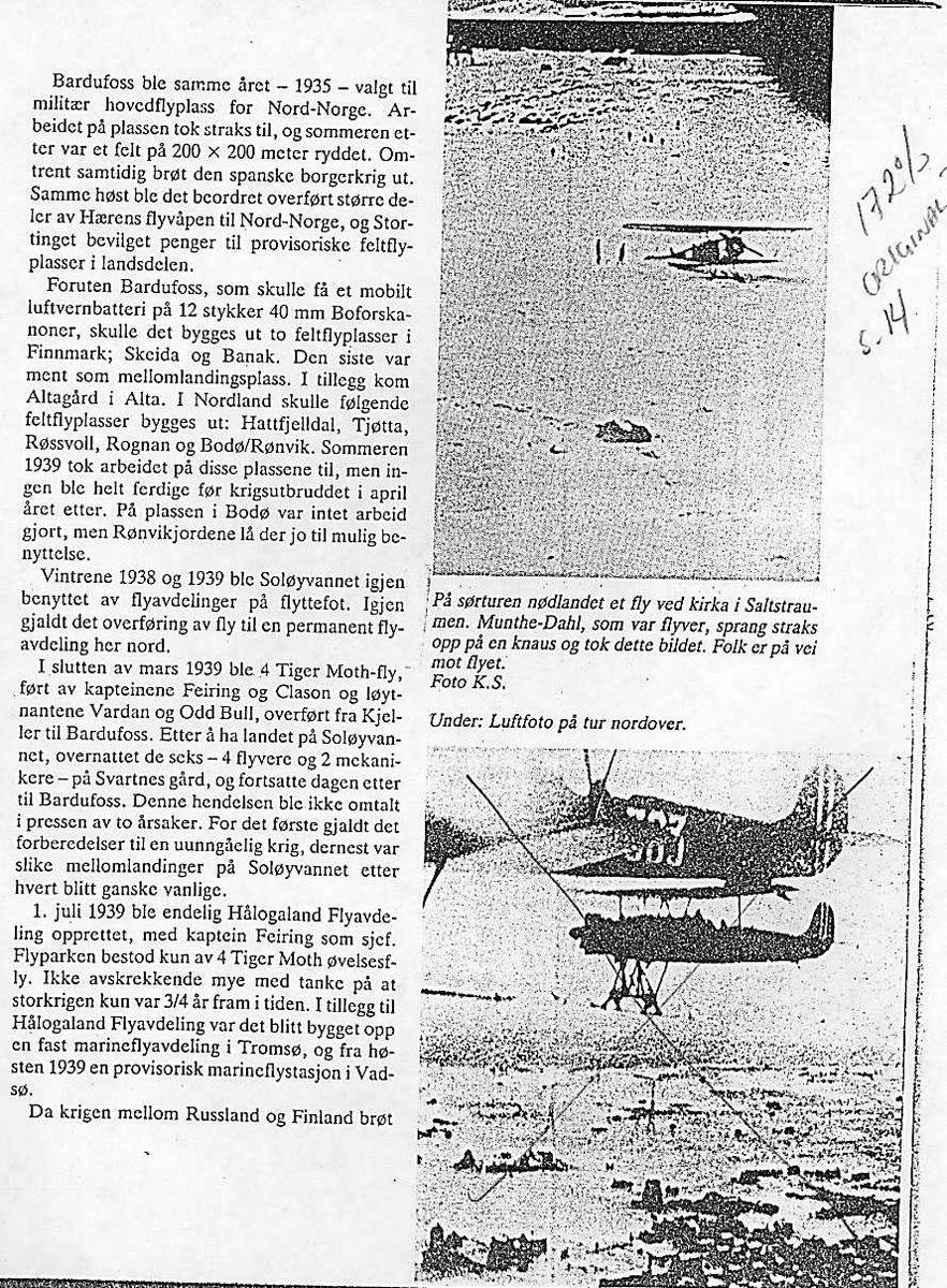 Fokker CVD. Nødlanding