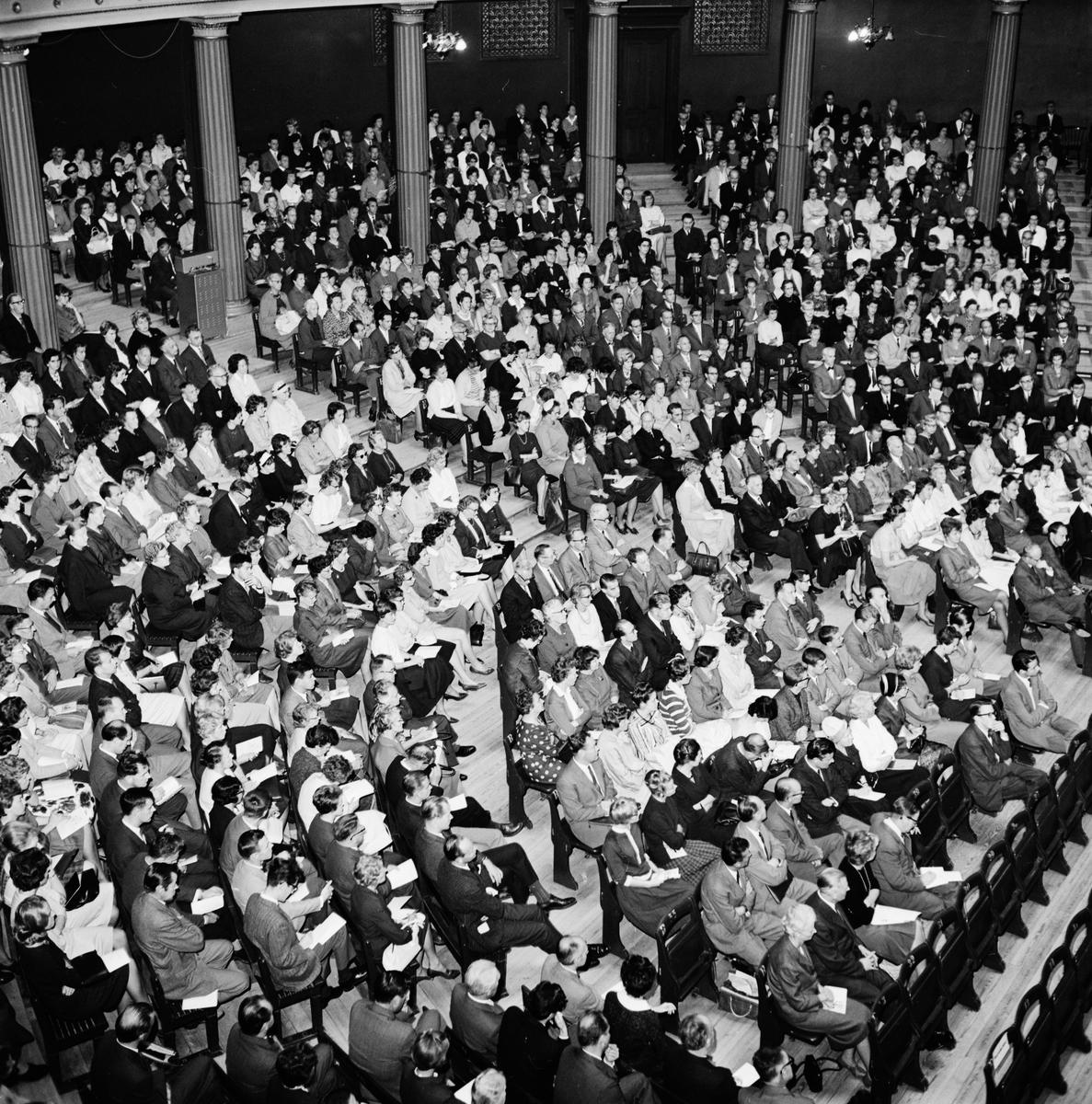 Lärare i Universitetsaulan, Uppsala 1962