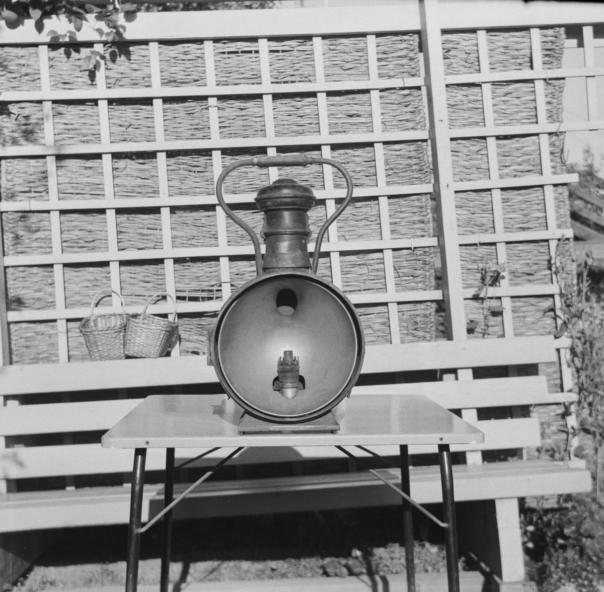 Parafinlykt fra et av Nesttun-Osbanens lokomotiver