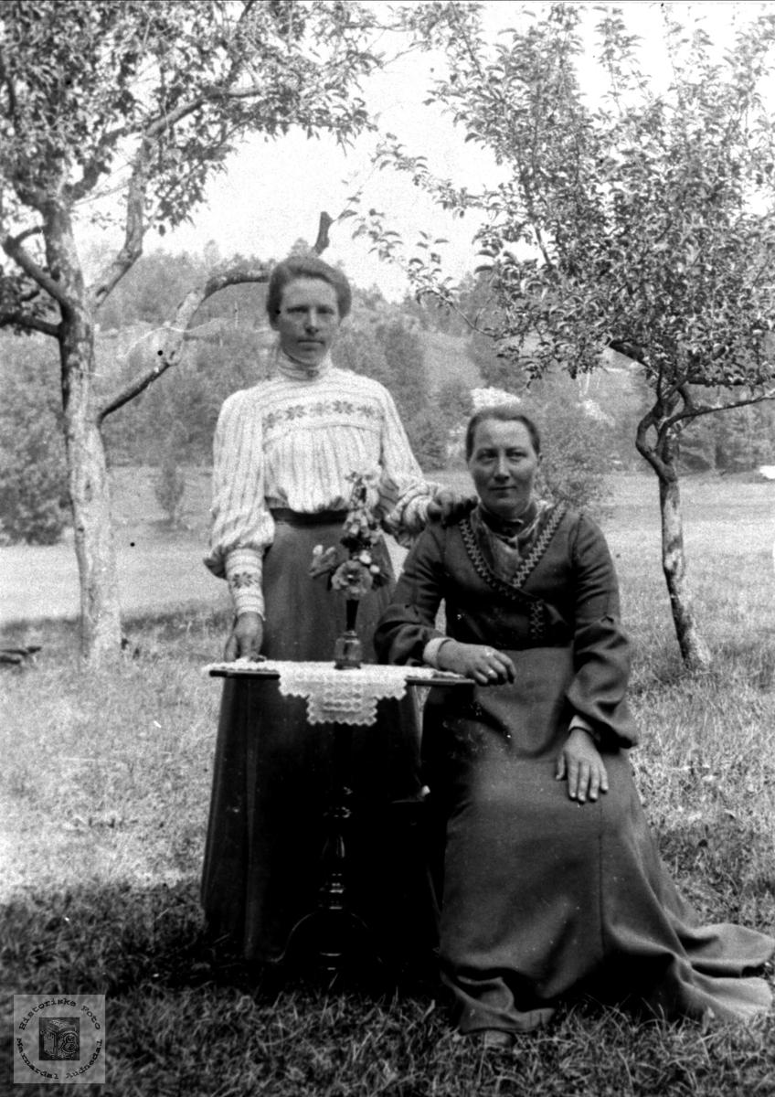 To venninner. Ingeborg Tisland, f. Krossen og Anna Høye.