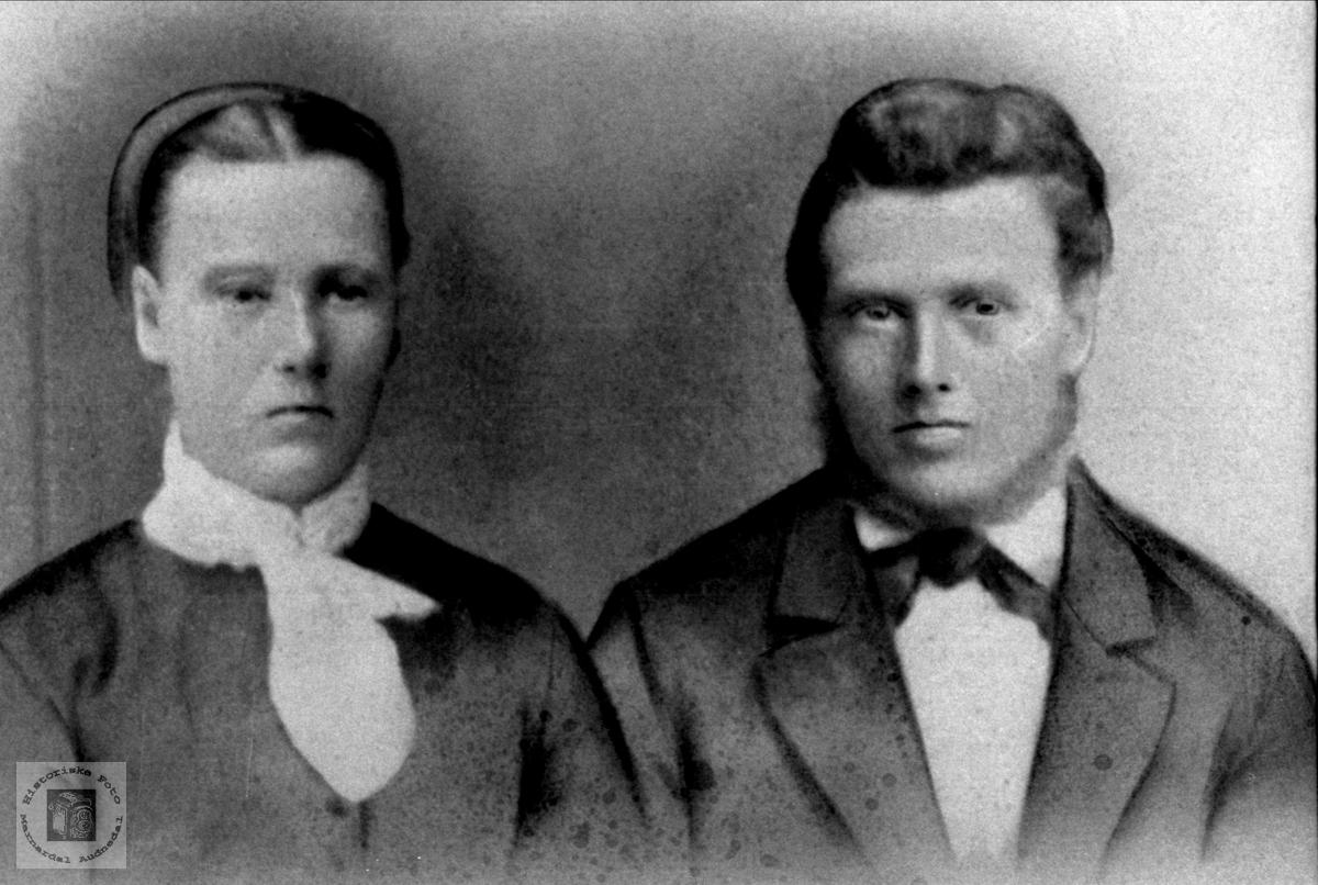 Ektepar. Aase Tomine og Thommas Krossen.