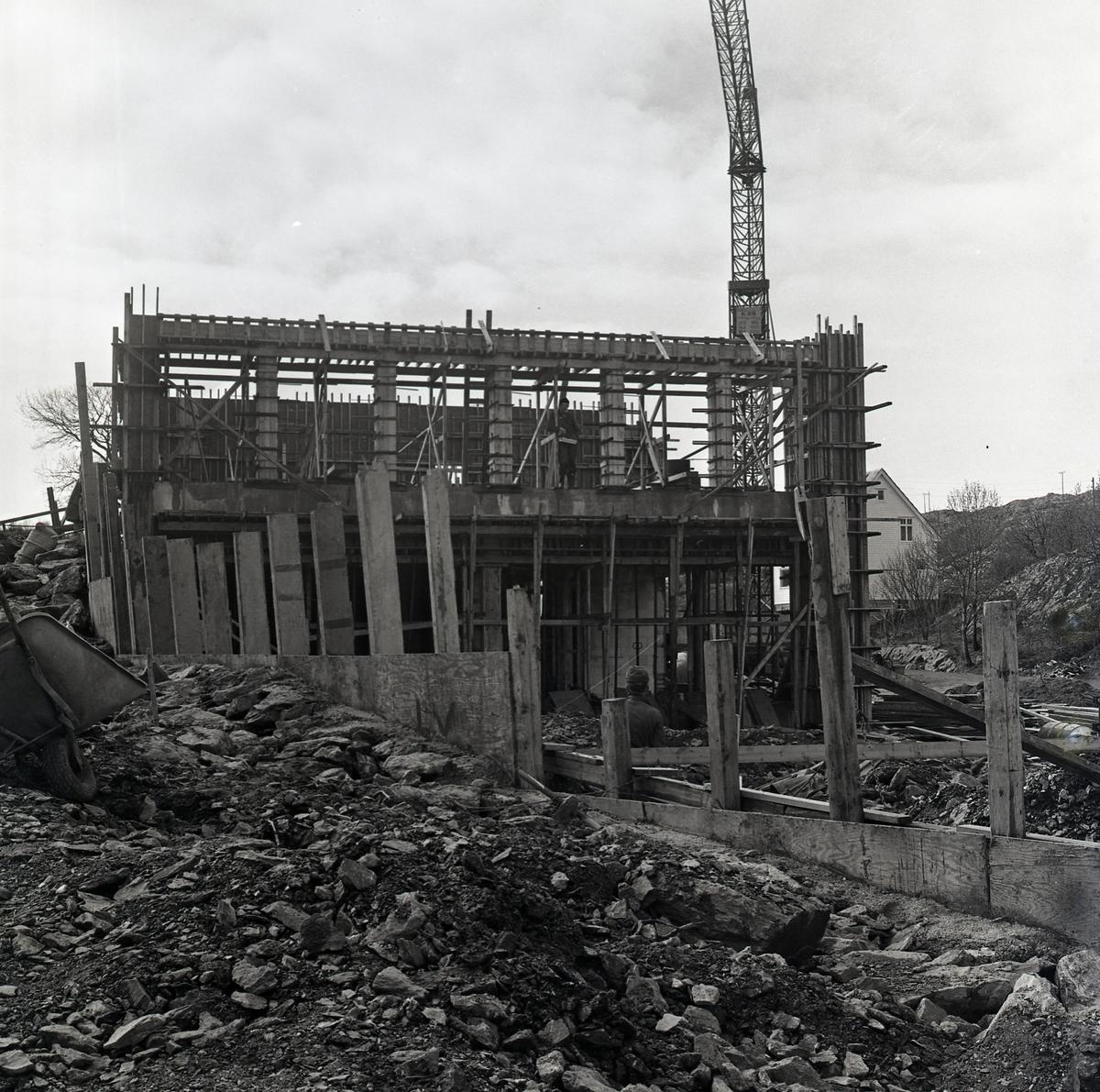Bømlo - Langevåg - Bygging - Kirken - Kaien - Arbeidskarer.