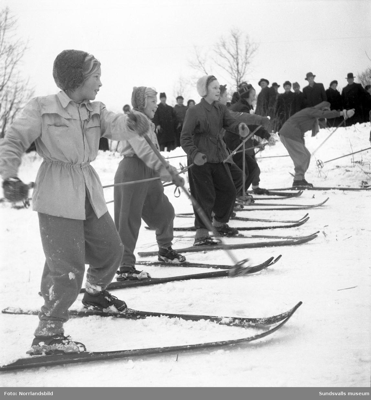Alpin skidskola i Busbacken, Sundsvall.