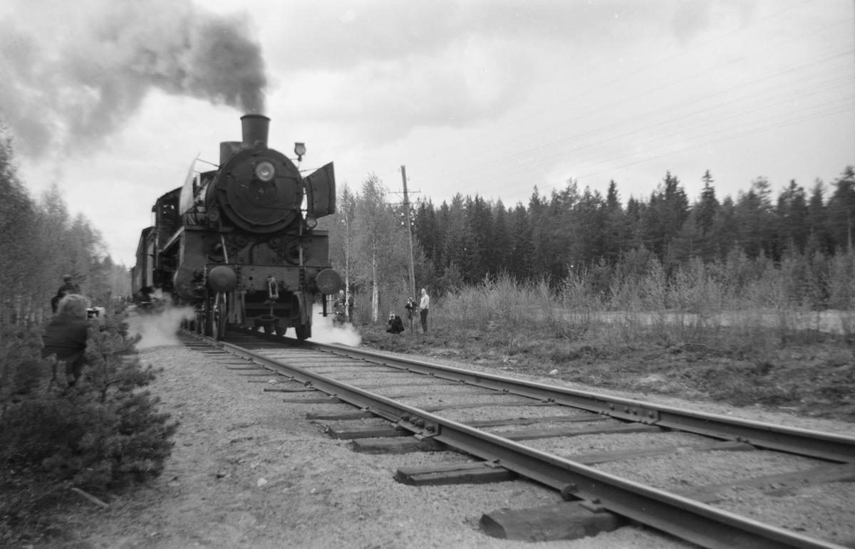 Fotokjøring med Svenska Järnvägsklubbens veterantog på Solørbanen, trukket av damplok 26c 411.