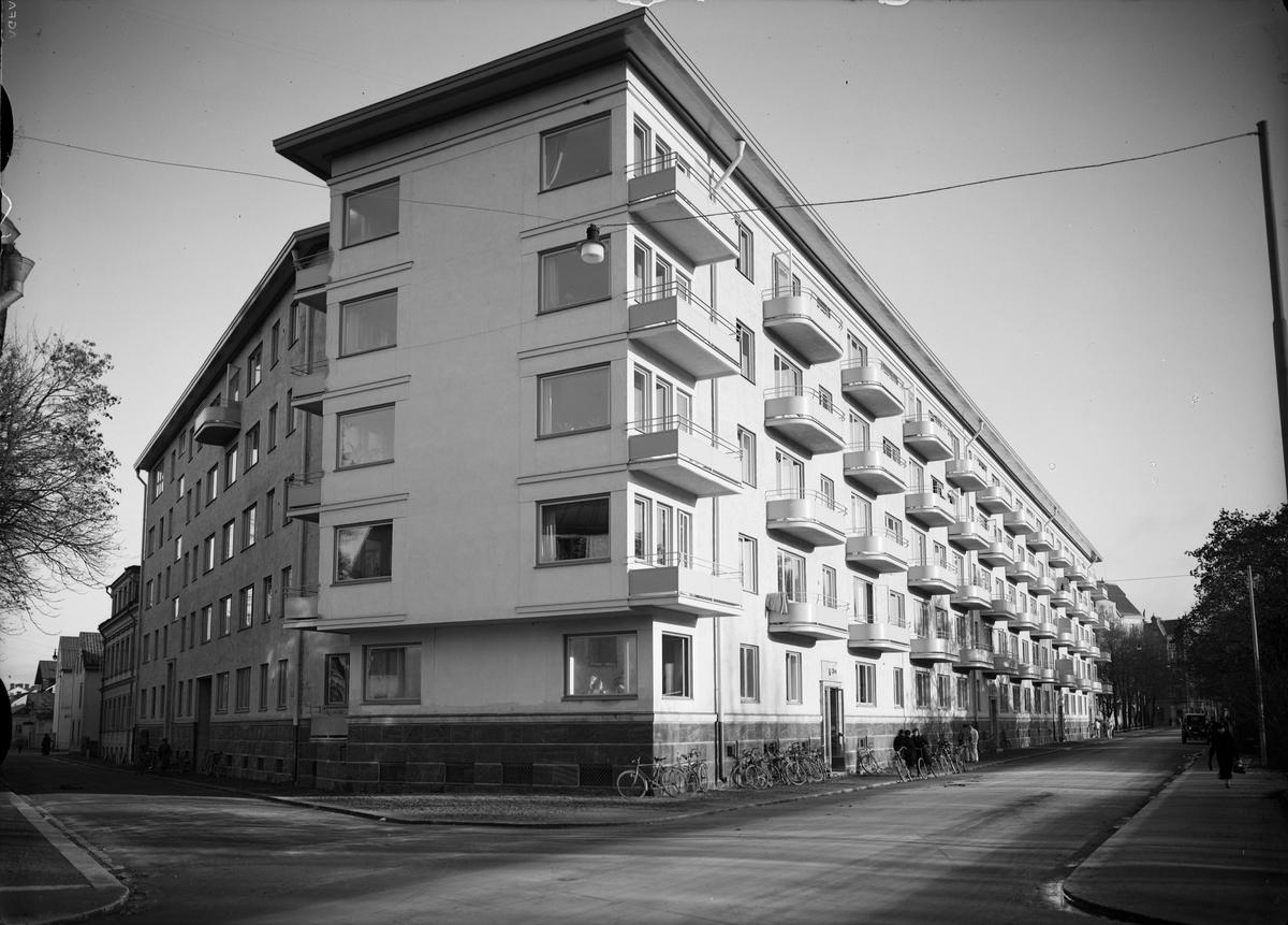 Flerbostadshuset Börjegårdarna, kvarteret Vindhem, Börjegatan, Uppsala 1936