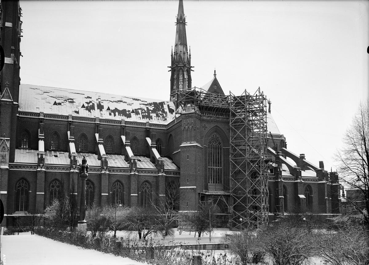 Uppsala domkyrka under restaurering, Uppsala 1939