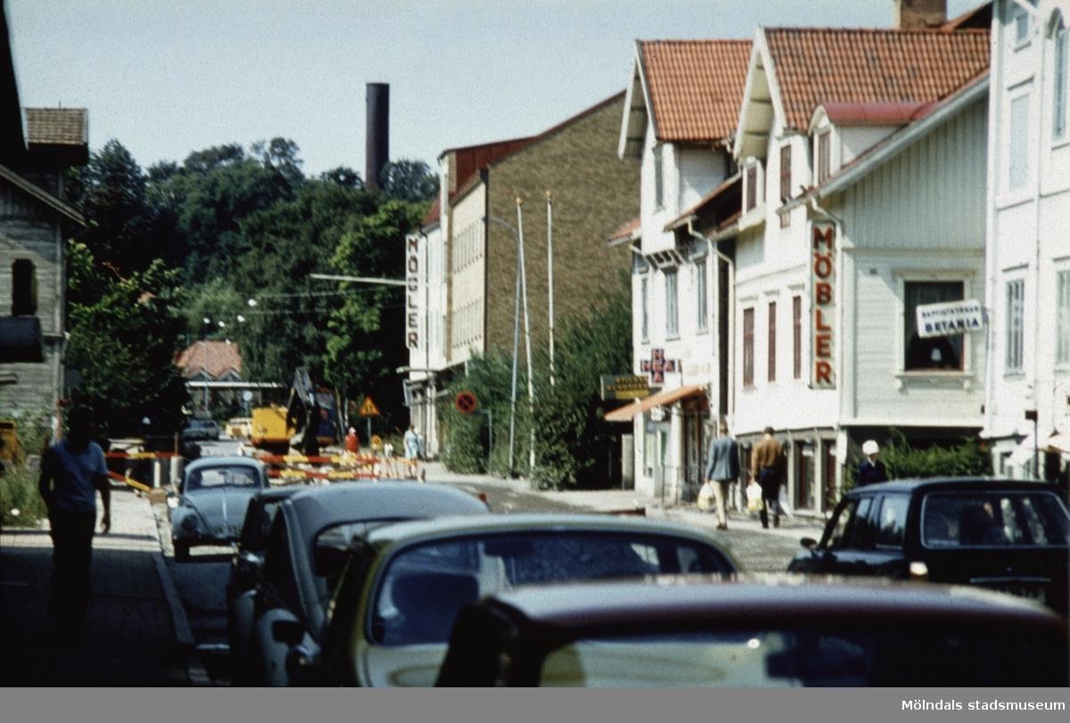 Frölundagatan i Mölndal, 1970-tal, sträckning västerut.