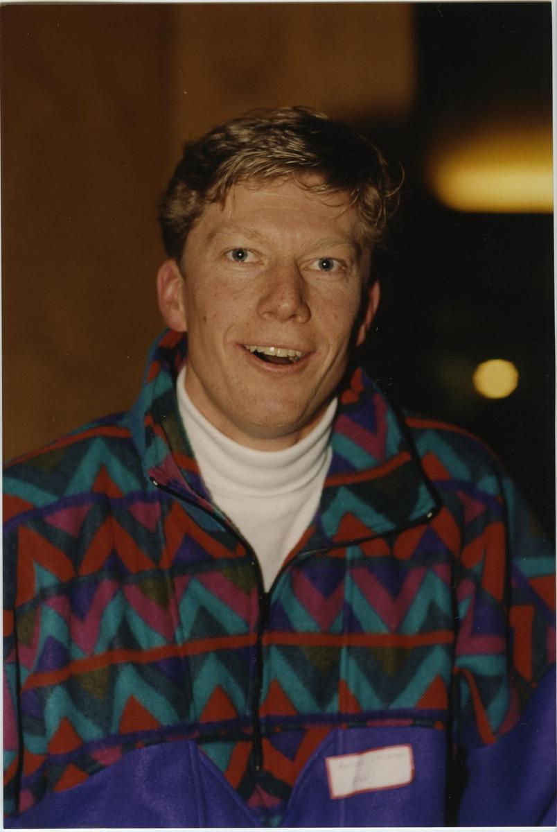 Övrigt: Finnjolleseglaren Lundmark, Anders. Deltagare i träningsläger för seglingslandslaget i Limhamn utanför Malmö, i  Malmö Segelsällskap anläggning, i april 1993