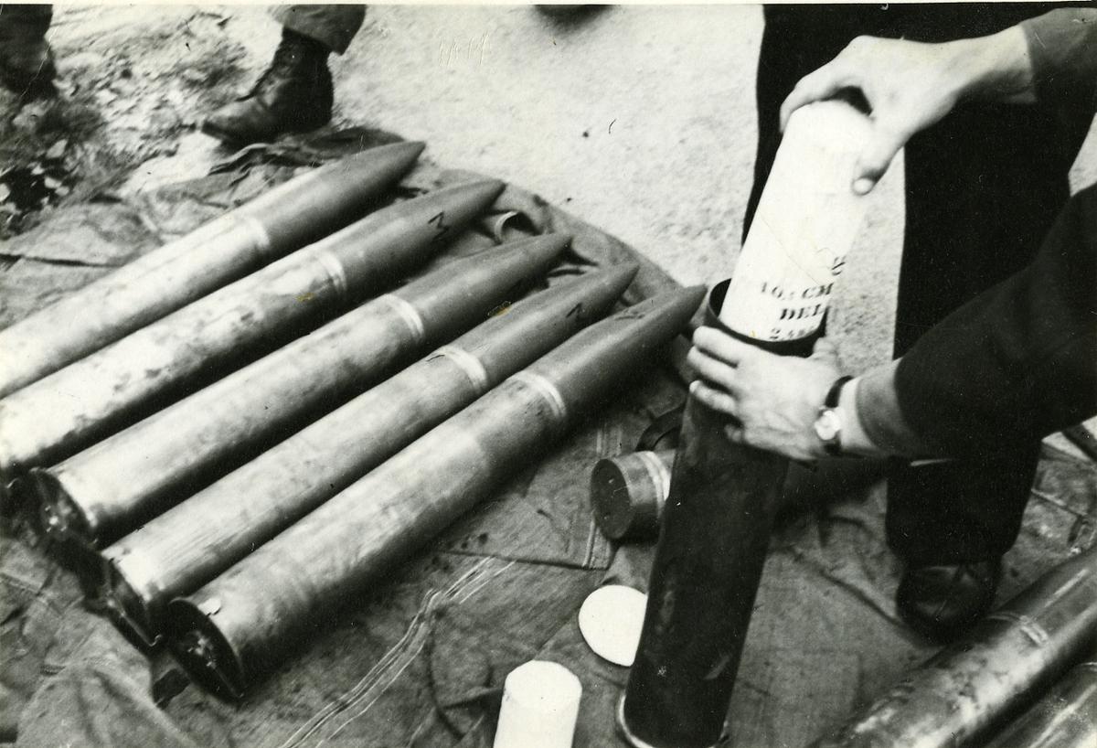 Ammunition till 10,5 cm kanon.