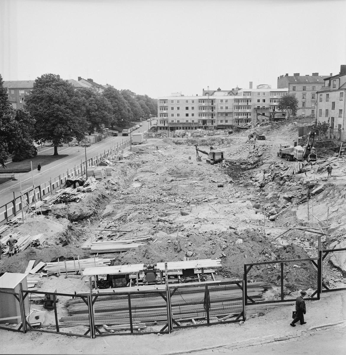 Övrigt: Foto datum: 22/6 1965 Byggnader och kranar Kvarteret Pollux