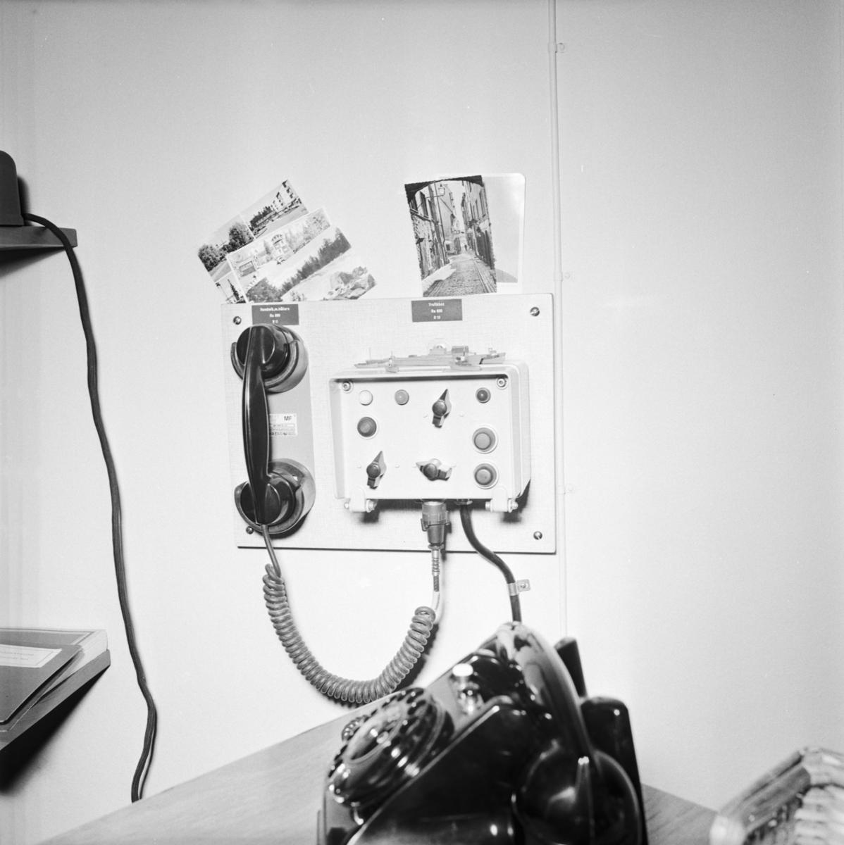 Övrigt: Foto datum: 9/8 1966 Byggnader och kranar Teleinstallationer på sjöreserven