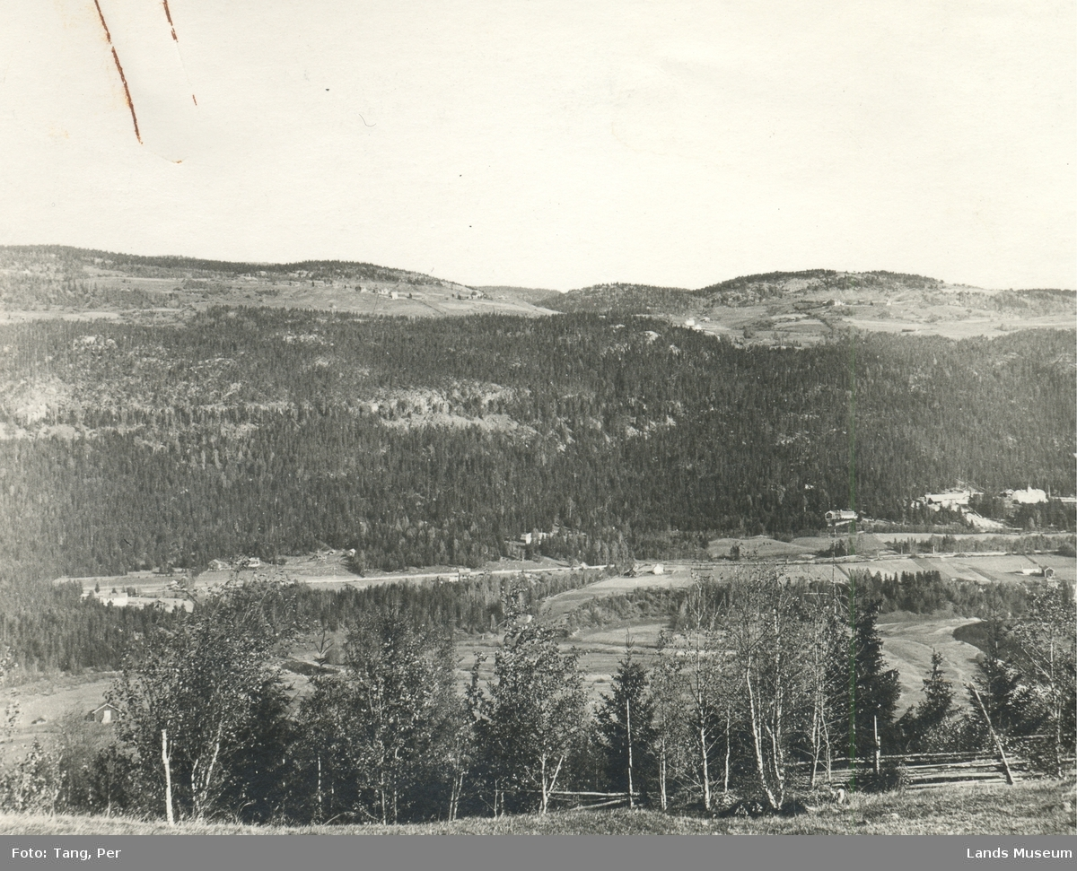 Foto utsikt fra Rustaden mot Ankaltrud, Tyndrum og Vinjarhagen