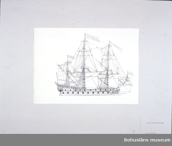 Ett 50-kanoners skepp från 1690 efter Rålamb