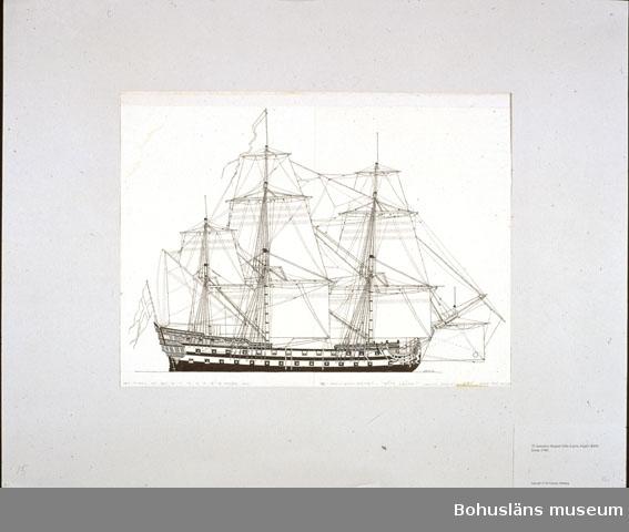 72 kanoners skeppet Göta Lejon, byggt i Karlskrona1746