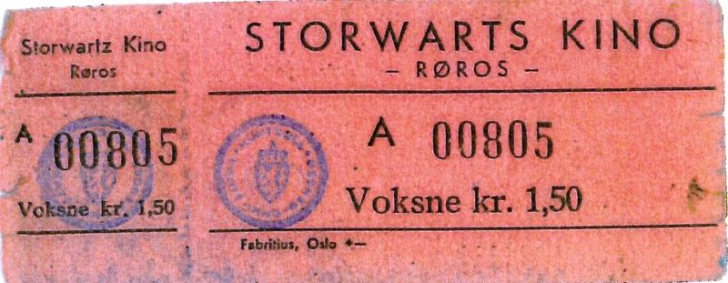 Kinobillett for Storwartz kino