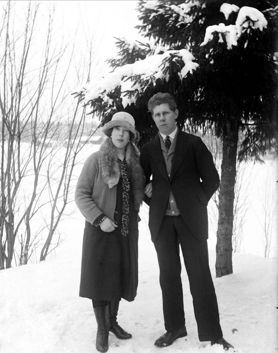 Rut och Gunnar Asp, Lillsunda, Uppsala-Näs socken, Uppland 1930-tal