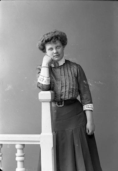 "Enligt fotografens journal nr 2 1909-1915: ""Håkansson, Fru Alingsås (Ön)""."