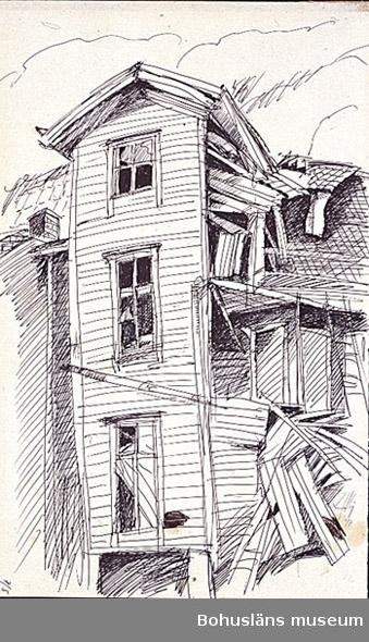 Byggnad under rivningsskede.