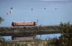 Lokaltog til Stjørdal ved Vikhamar med NSB motorvogn type 86