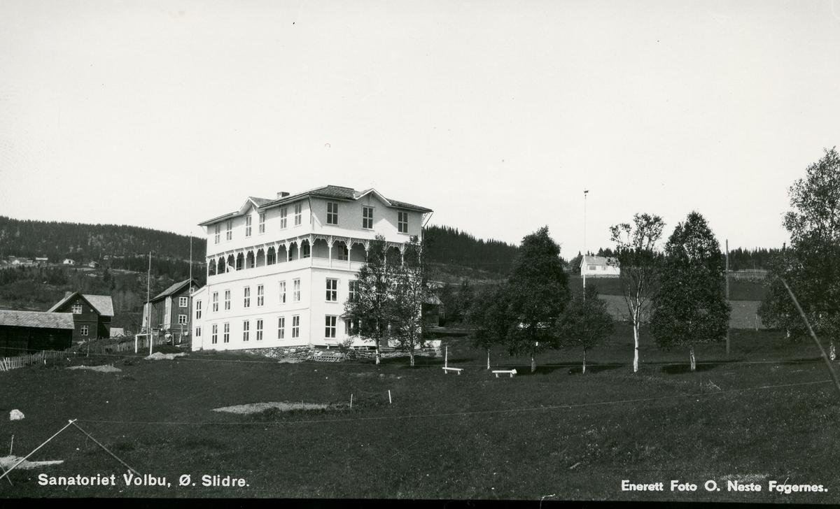 Sanatoriet i Volbu, Øystre Slidre, med sveitserstilsinspirert dekor