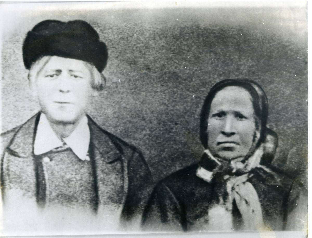 Brystbilde av Ivar Larsen Kamrud (1815-1894) og kona Marit Iversdatter Hippe (1818-1904)