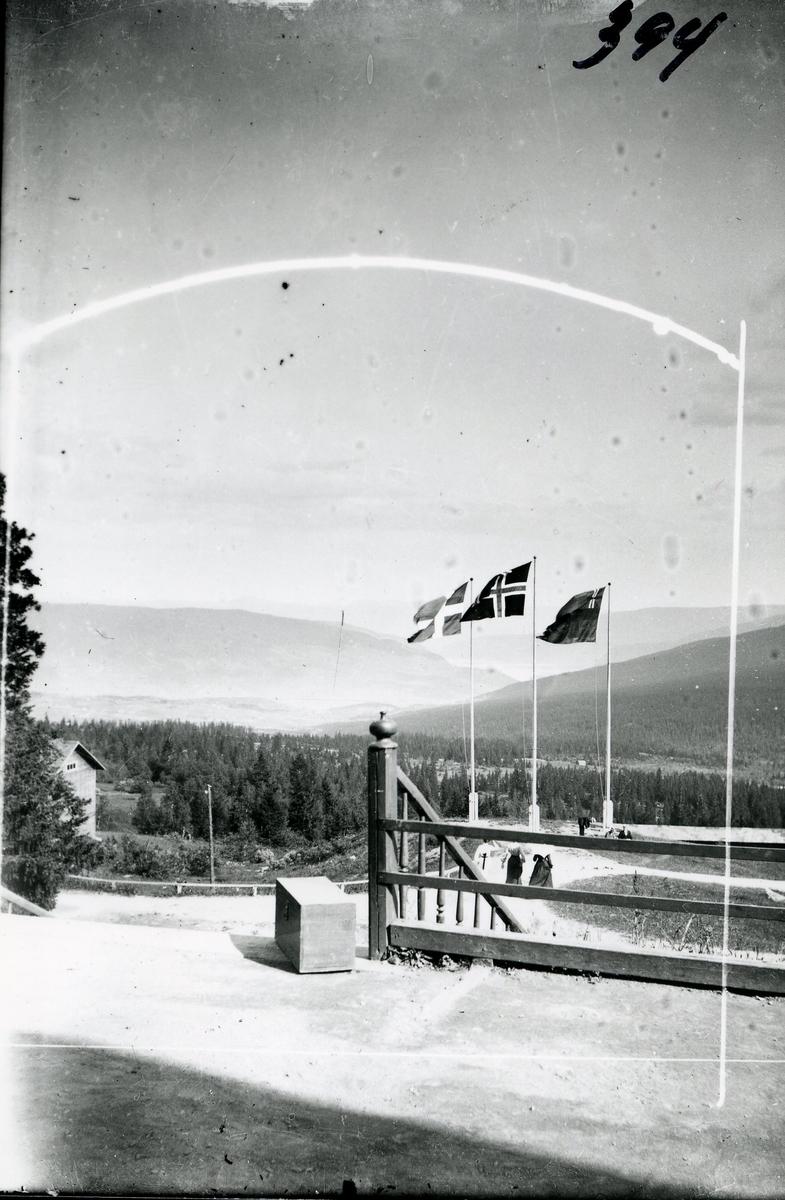 Flaggstenger ved Fosheim Sæter