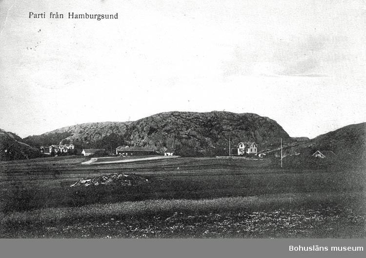 """Text på kortet:"""" Parti från Hamburgsund""""."""