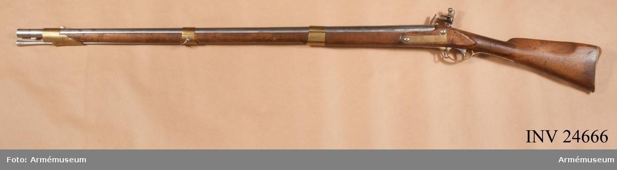 Grupp E II b. Gevär m/1815. Reparationsmodell.