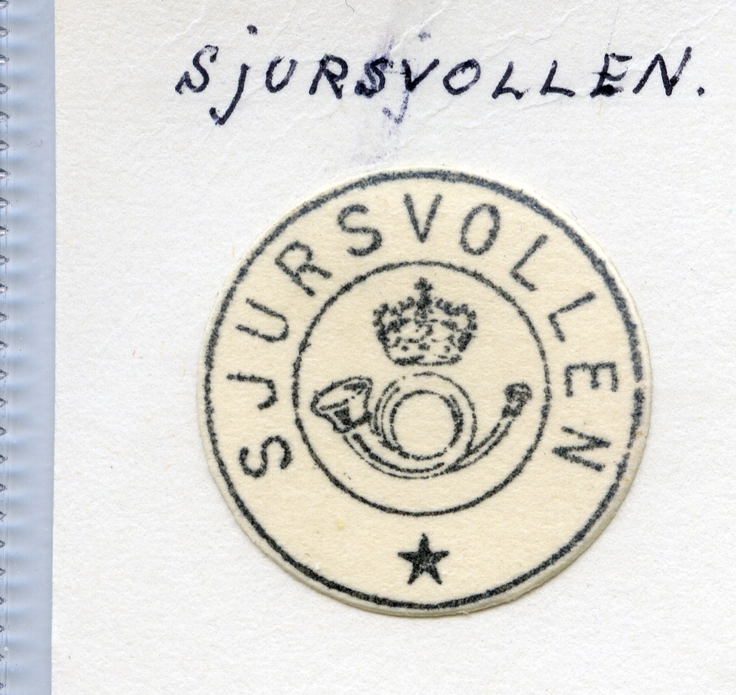 Stempelkatalog  Sjursvollen, Borre kommune, Vestfold