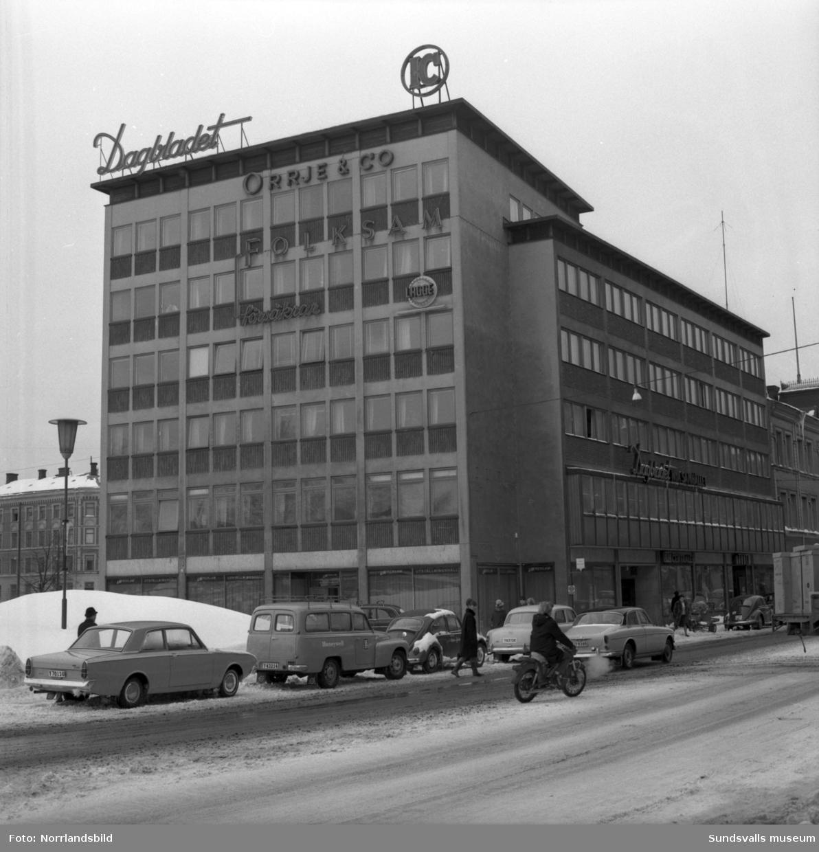 Exteriörbild av fastigheten vid Köpmangatan 1. (Dagbladet)