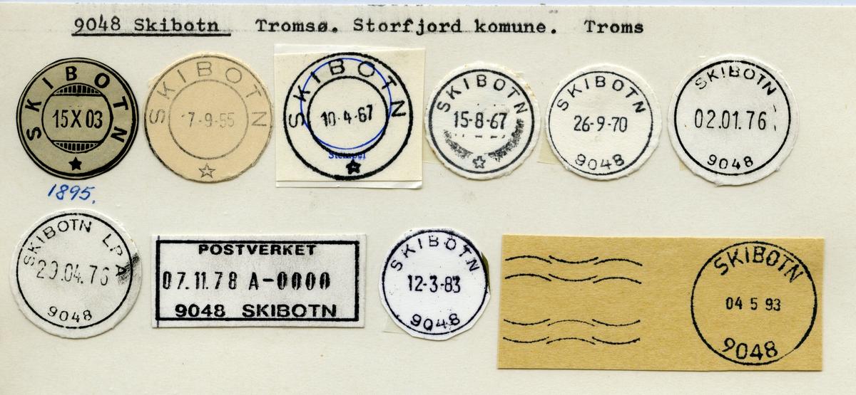 Stempelkatalog  9048 Skibotn, Storfjord kommune, Troms