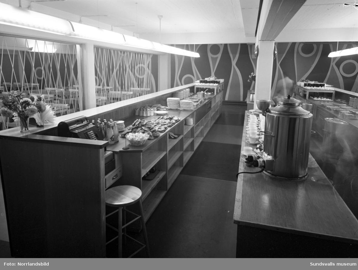 Bardisken på Televerkstadens personalrestaurang.
