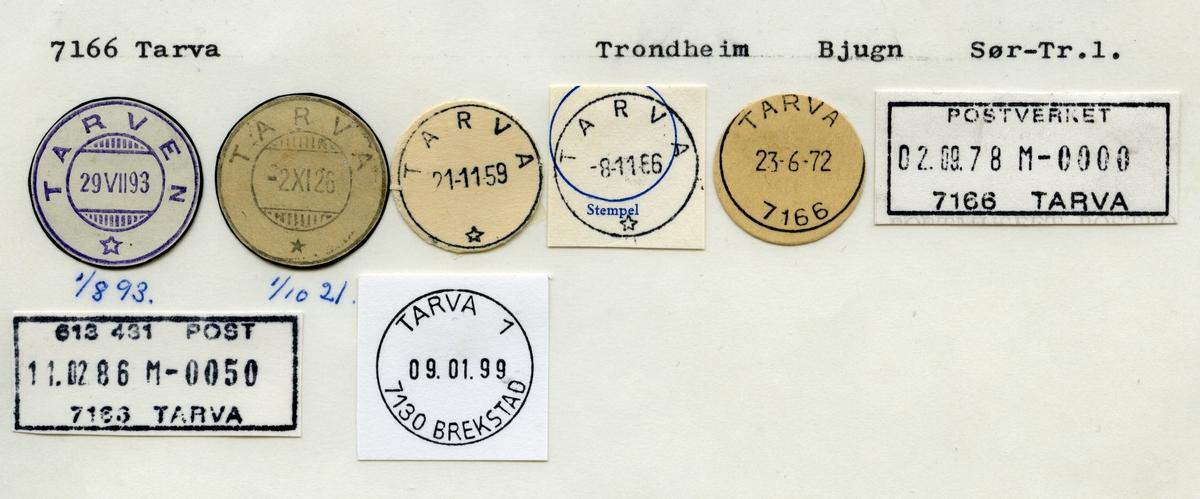Stempelkatalog 7166 Tarva (Tarven), Bjugn, Sør-Trøndelag