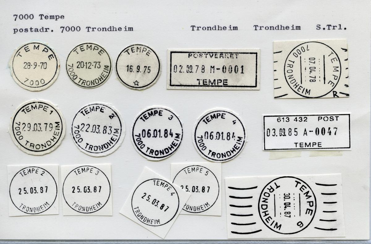Stempelkatalog 7000 Tempe, Trondheim, Sør-Trøndelag