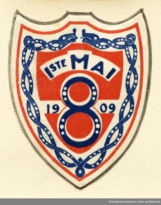 Arbeiderpartiets 1. mai-merke fra 1909