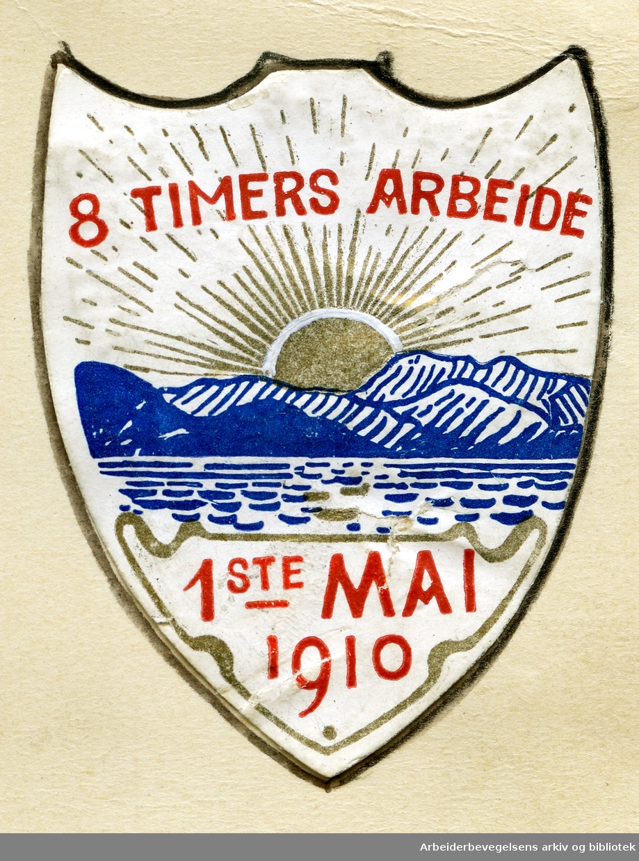 Arbeiderpartiets 1. mai-merke fra 1910