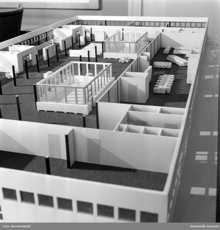 Byggmodell av Skönsmons skola.