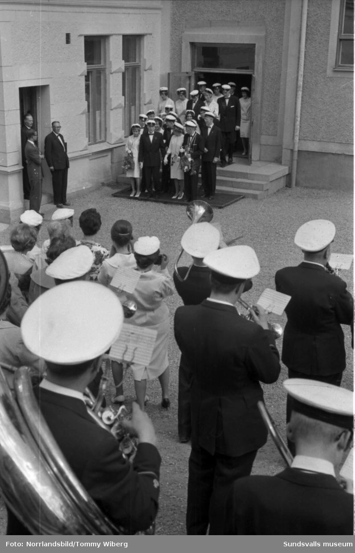 Examensdag vid Sundsvalls handelsskola 1961.
