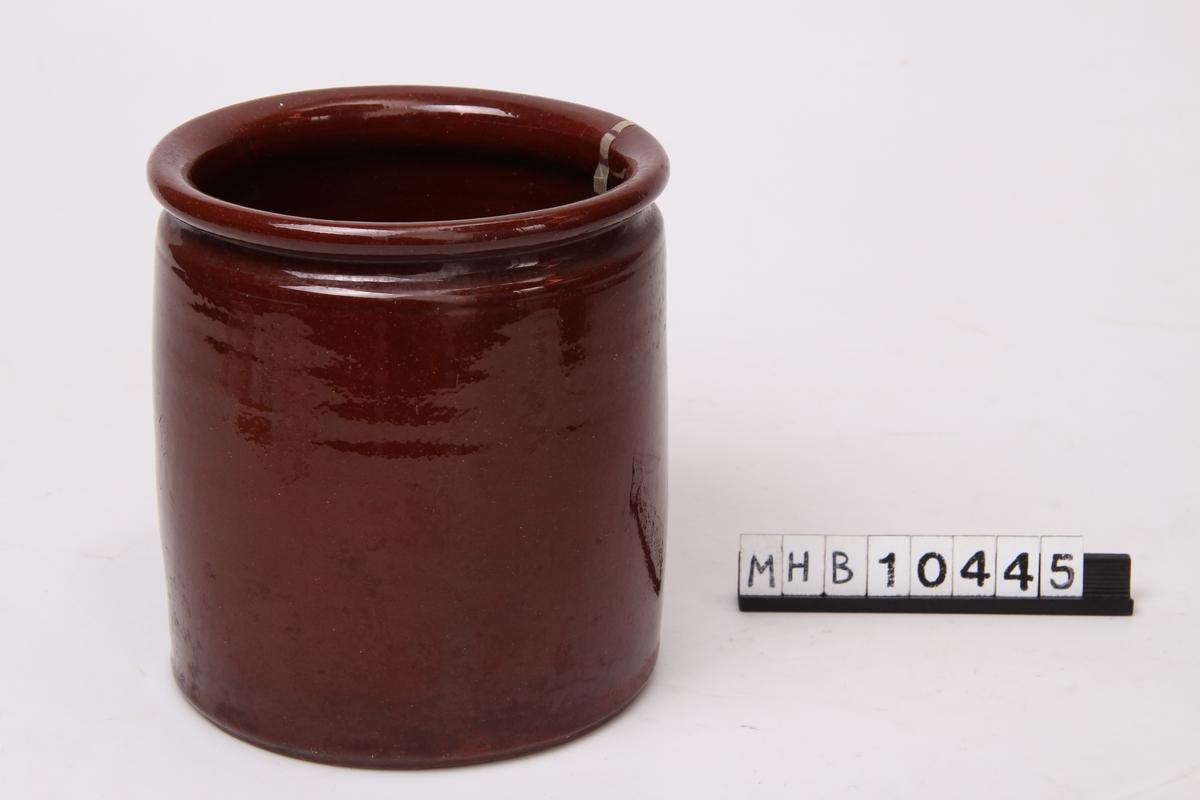Krukke brukt til oppbevaring av sylte.