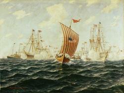 """""""Viking""""s mottagelse i Chicago 12. juni 1893 [Oljemaleri]"""