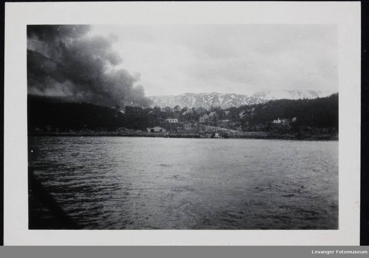 Bombing i Narvik krigsvåren 1940.