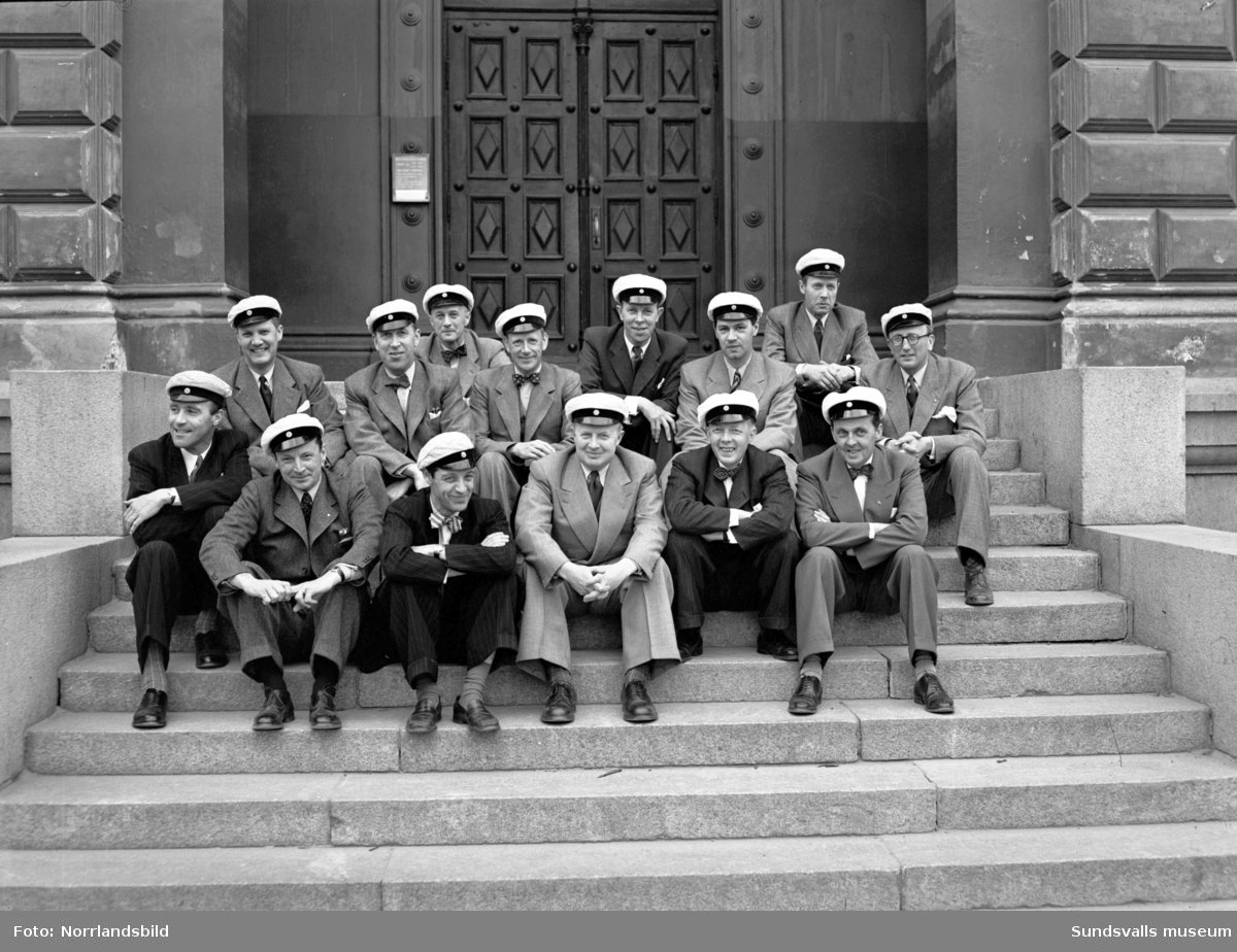 Jubileumsträff för 1926 års studenter (direktör Felländer).