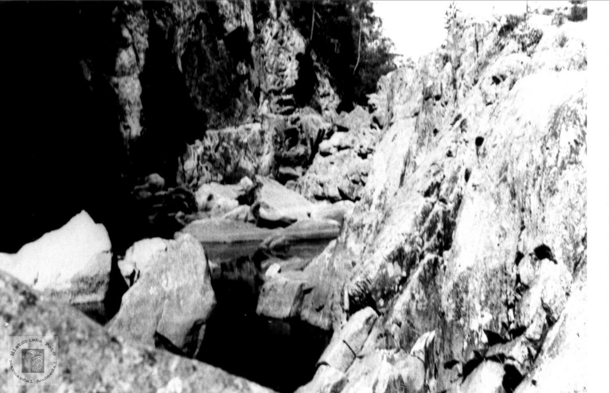 Kavfossen, Stivlia i Mandalselva etter kraftutbygginga
