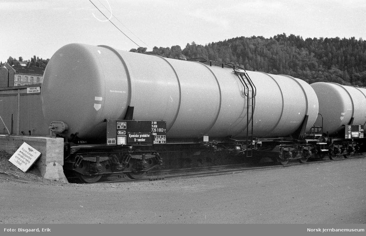 Tankvogn litra Uahs nr. 726 1002 på Sørenga