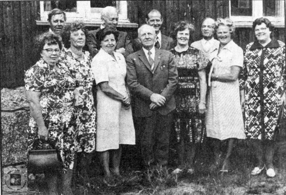 50 års jubilantar ved Myran skule i Bjelland.