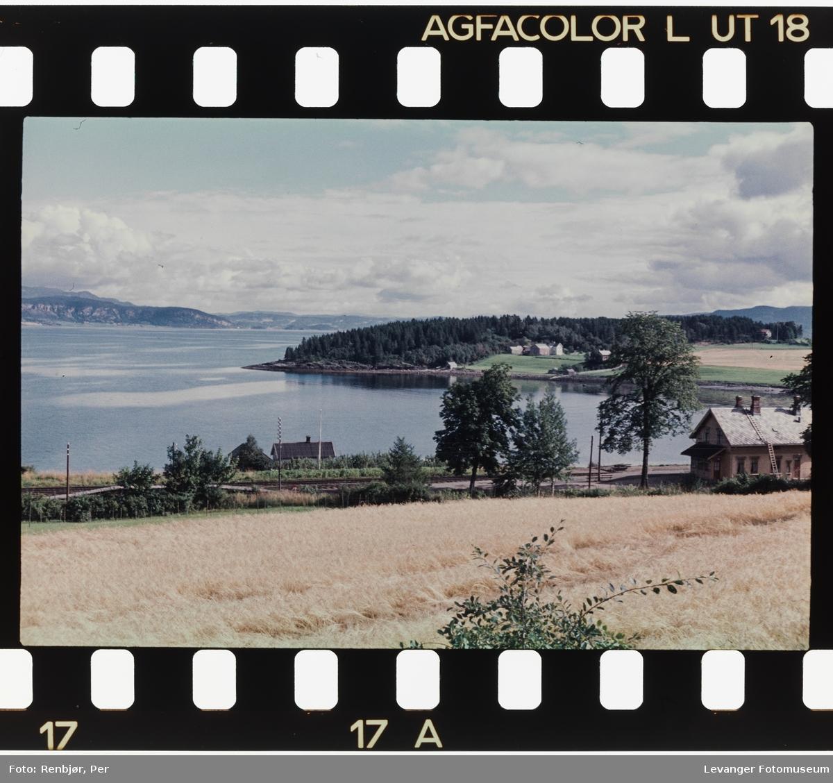 Landskap ut mot sjøen i Malvig området.