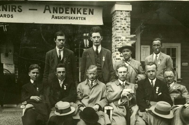 En gruppe godtemplarer i Bergen, 1929. (Foto/Photo)