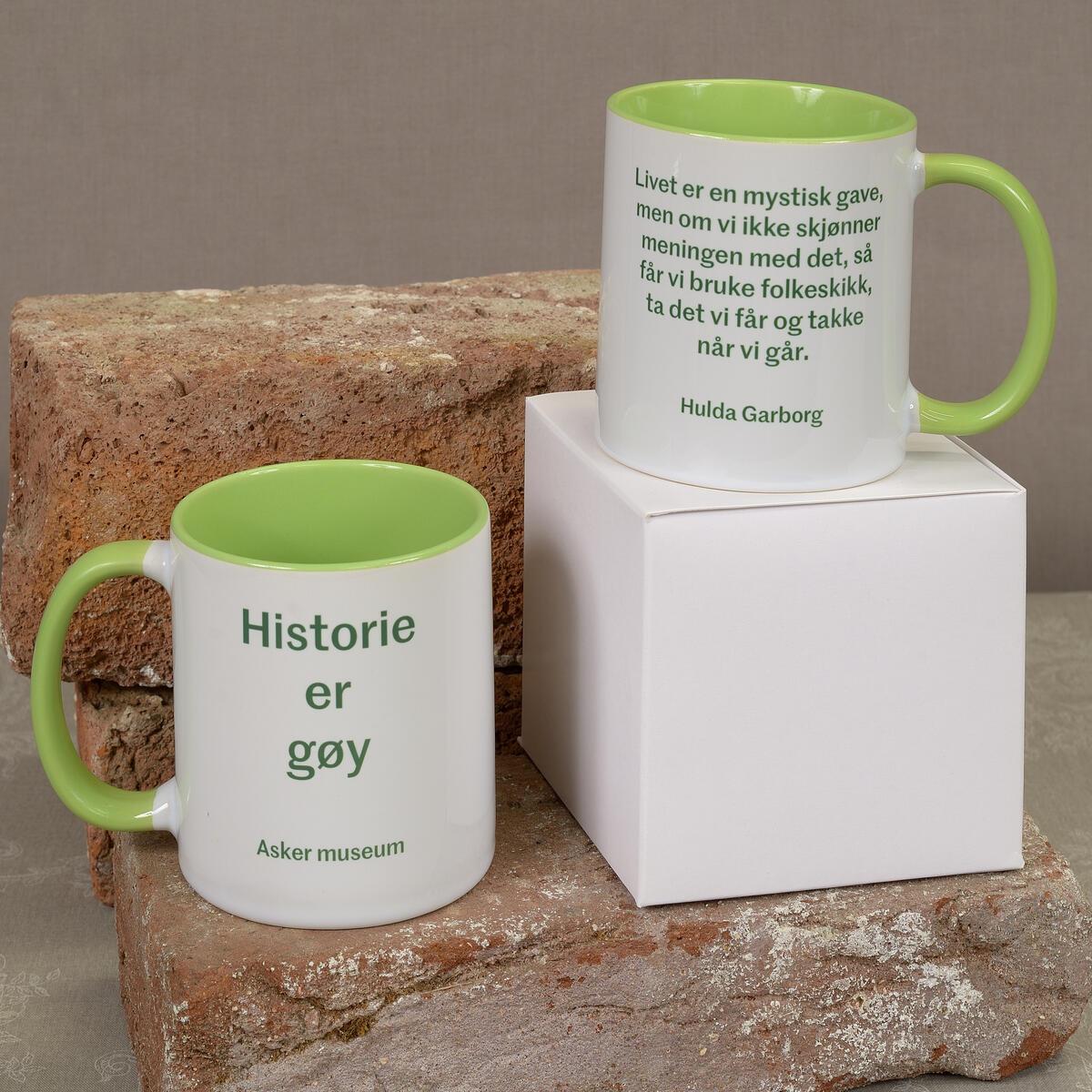 Stor deilig kopp med et av våre favorittsitat av Hulda Garborg. Koster kr. 175,- (Foto/Photo)