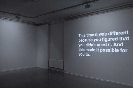 Ignas Krunglevicius. Tittel: Narrative With an Unexpected Outcome (2011). Medium: Triple channel video installation with sound video .  Lengde: 16m 30s. (Foto/Photo)