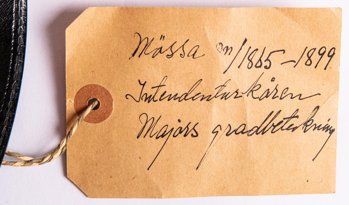 Mössa. m/1865-1899, majors gradbeteckning.